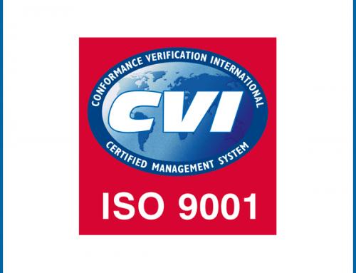 Cerificazione ISO 9001 – Aprile 2019